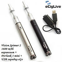 Электронные сигареты Vision Spinner 2 1600 mAh варивольт+ProTank 3 Mini