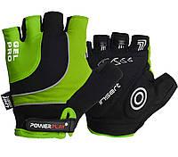 Велорукавички PowerPlay 5015 B Зелені L - 144355