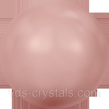 Напів-перли гарячою клейовою фіксації (HOTFIX) 2080/4 Coral Pink Pearl (упаковка 1440 шт) 10ss