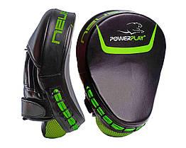 Лапи боксерські PowerPlay 3041 Чорно-Зелені PU, пара - 143745