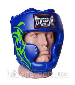 Боксерський шолом тренувальний PowerPlay 3043 Синій XL - 144058