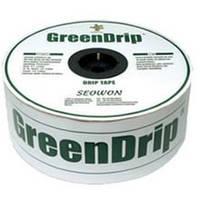 """Капельная лента Seowon """"Green Drip"""", 16ммх6MIL, капельницы через 30см, бухта 1400м."""