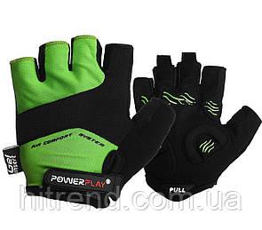 Велорукавички PowerPlay 5013 B Зелені XS - 144708