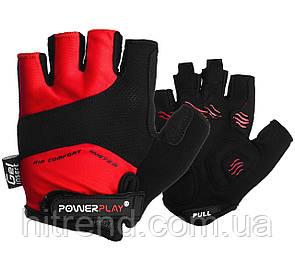 Велорукавички PowerPlay 5013 D Червоні XS - 144716