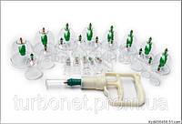 Набор вакуумных банок для массажа (24 шт) с насосом
