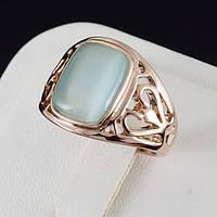 Сказочное кольцо с кристаллами Swarovski, покрытое золотом 0663