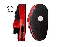 Лапи боксерські PowerPlay 3063 Чорно-Червоні Шкіра, пара - 143743
