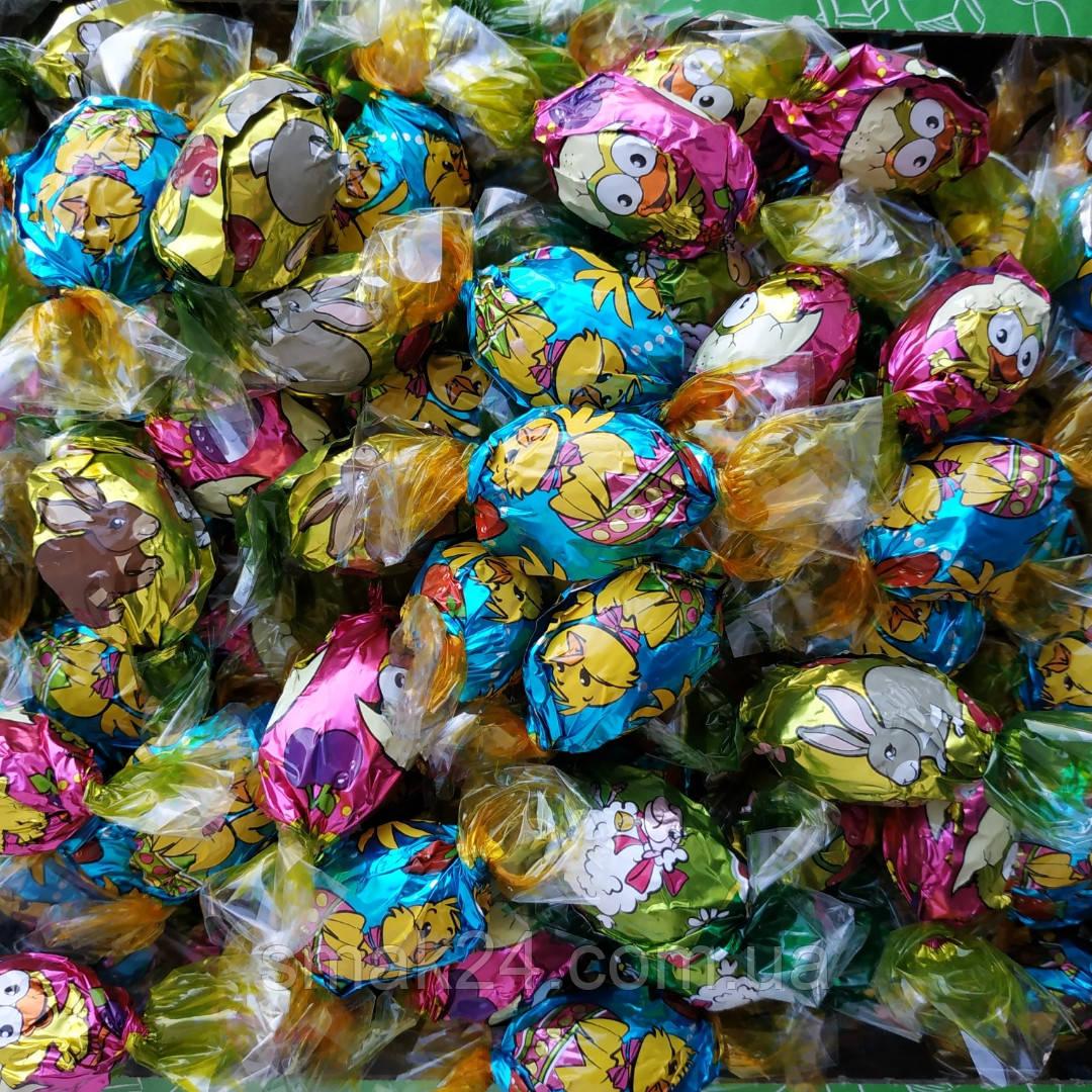 Конфеты шоколадные ( яйца) 4 вкуса Baron 1 кг Польша