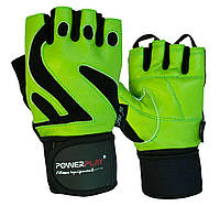 Рукавички для фітнесу PowerPlay 1064 D Зелені S - 144107