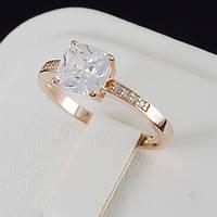 Чудесное кольцо с кристаллами Swarovski, покрытое золотом 0664 19 Белый