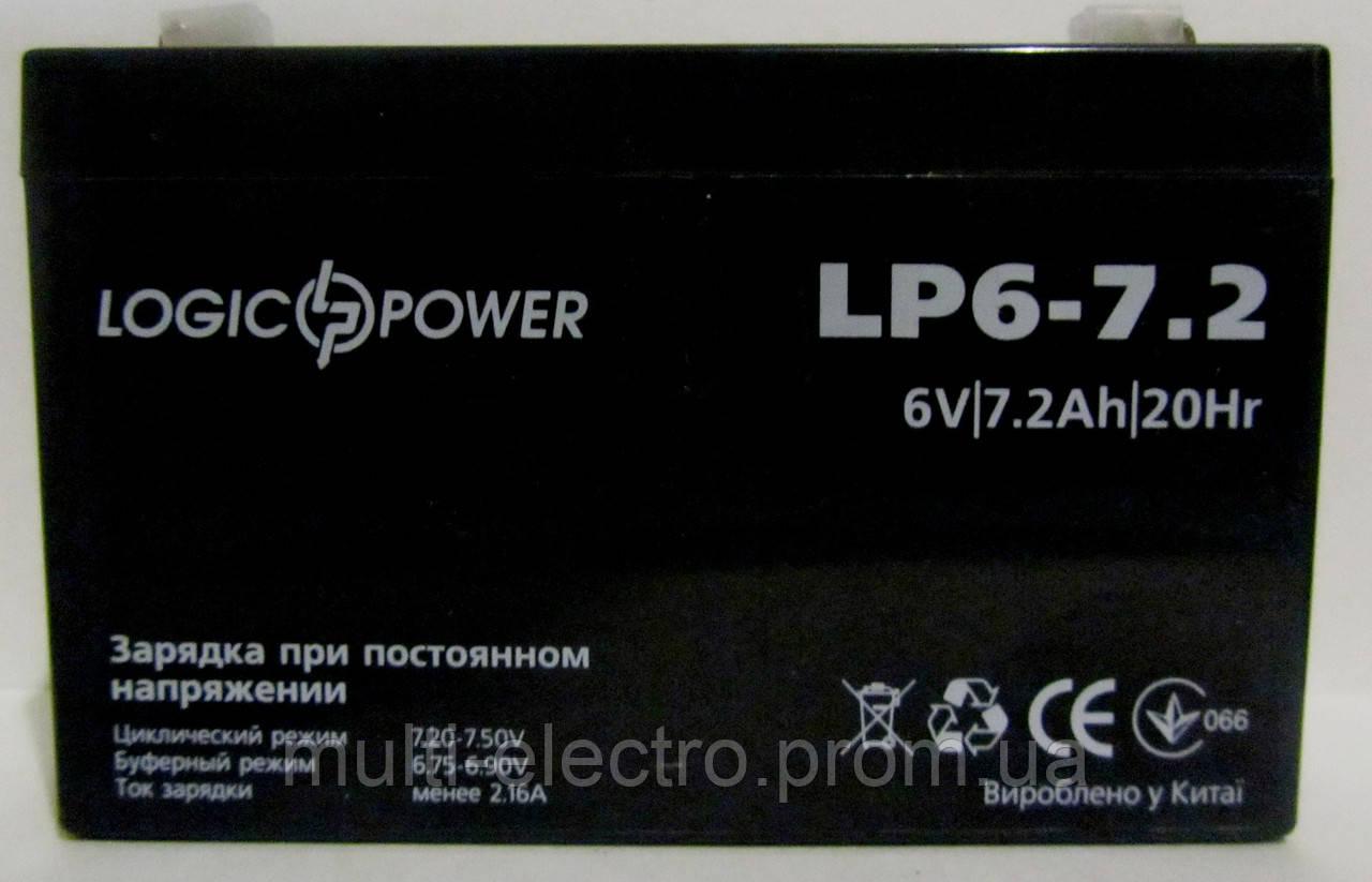 """Свинцово кислотный аккумулятор 6v 7.2ah - Интернет-магазин """"Multi"""" в Днепре"""