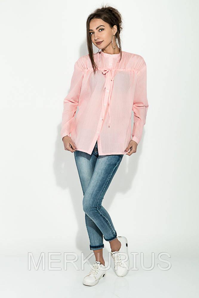 229851847f9 Рубашка Женская с Завязками на Груди 64PD337-1 (Персиковый) — в ...