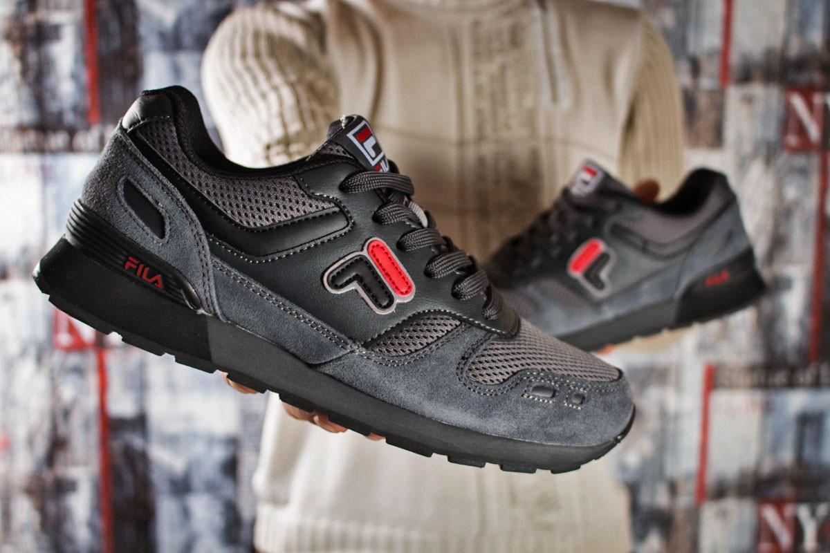 90f6ecb9 Мужские кроссовки в стиле Fila, текстиль, замша, пена, серые, ...
