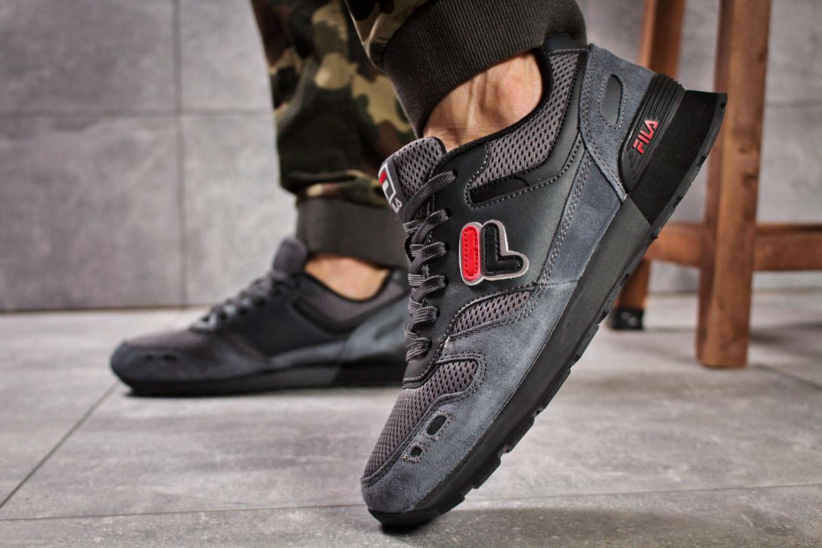 6bbf6f42 ... Мужские кроссовки в стиле Fila, текстиль, замша, пена, серые, ...
