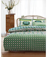 Постельное бельё Karaca Home - Sita зеленое ранфорс полуторное