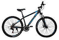 Горный велосипед Trinx MAJESTIC M136 ELITE Матовый черный / синий / серый 27.5 колеса x 18 и 21 рама