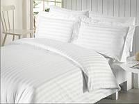 Постельное белье для гостиниц - Lotus сатин страйп 2х2 белое евро