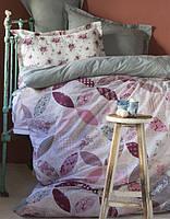 Постельное бельё с покрывалом пике Karaca Home - Alita розовое евро