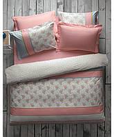 Постельное белье с покрывалом пике Karaca Home - Meyra розовое евро