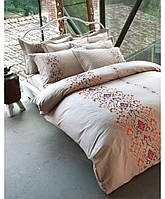 Эксклюзивное постельное бельё Karaca Home Private - Berte сатин с вышивкой
