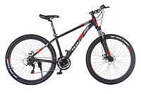 Горный велосипед Trinx MAJESTIC M136 ELITE Матовый черный / серый / красный 27.5 колеса x 16 / 18 / 21 рама