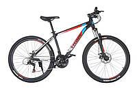 Горный велосипед Trinx MAJESTIC M100 мат. Черно-красный с белым 26 колеса х 17 рама