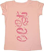 Блуза для девочки, розовая с белыми пайетками, р. 134 см