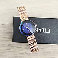 Уценка! Женские наручные часы Baosaili Gold-Blue, фото 1