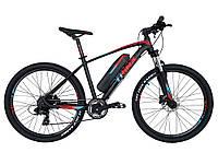 Электровелосипед Trinx X1E Lite Матовый черный/красный  26 колеса х 17 рама