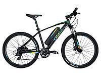 Электровелосипед Trinx X1E Lite Матовый черный/зеленый/голубой 26 колеса х 17 рама