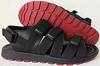 Nike жесть ! Мужские кожаные сандали на липучках Найк, фото 1