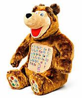 """Развивающая интерактивная мягкая игрушка """"Маша и медведь"""" Учим цифры и буквы"""