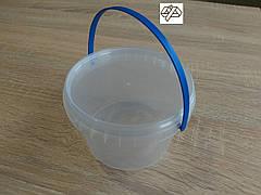 Відро пластикове 0,5 л кругле