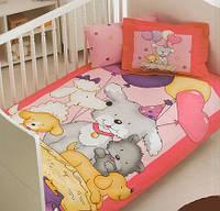Постельное белье для младенцев Тас Baby Fun bebek розовое