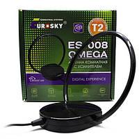 Антенна DVB-T2 Комнатная Eurosky ES-008 ОMEGA с усилителем 5В