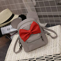 Милый мини рюкзак с бантиком и ушками Минни Маус, фото 2