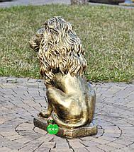 Садовая фигура Лев средний правый, фото 3