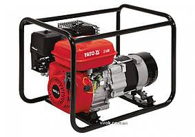 Генератор ел.струму бензиновий YATO: W=2 кВт, U=230 В, витрата- 0.6л/г, бак- 3.6л з блок.перенав.