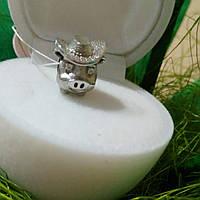 Серебряный шарм 925 пробы покрыт родием