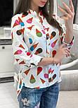 Женская стильная рубашка с принтами (в расцветках), фото 3