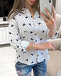 Женская стильная рубашка с принтами (в расцветках), фото 4