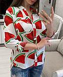 Женская стильная рубашка с принтами (в расцветках), фото 8