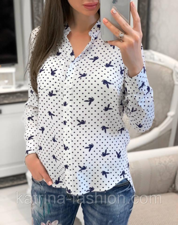 Женская стильная рубашка с принтами (в расцветках)