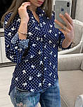 Женская стильная рубашка с принтами (в расцветках), фото 9