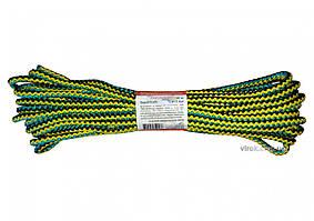 Мотузка господарська Веселка TM VIROK, 7мм Х 10 м, р/н=100кгс, поліпропіленова, з серцевиною