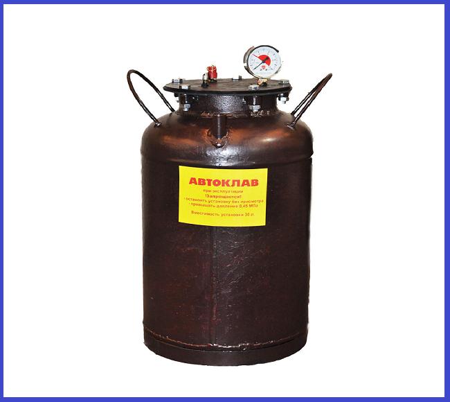 Автоклав Красный мини газ (0,5 л-10 шт. 1л-5 шт.)