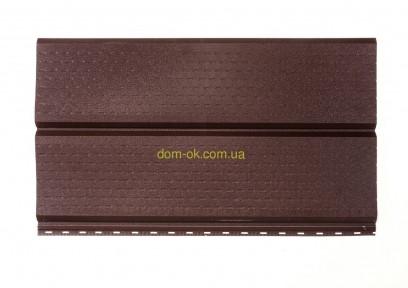 Софит металлический перфорированный цвет коричневый RAL 8017 МАТ 0,43 мм Китай