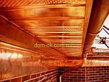 Софит металлический перфорированный цвет коричневый RAL 8017 МАТ 0,43 мм Китай, фото 6