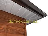 Софит металлический перфорированный цвет коричневый RAL 8017 МАТ 0,43 мм Китай, фото 10