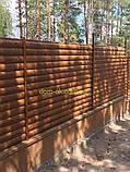 """Блокхаус металевий """"Колода тип 1"""" колір - світле дерево-2-з сторонній, для парканів, фото 2"""